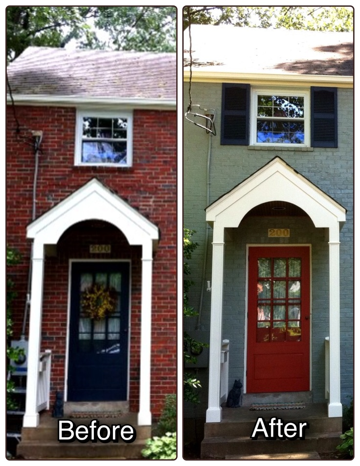 before and after residential exterior painting pinterest. Black Bedroom Furniture Sets. Home Design Ideas