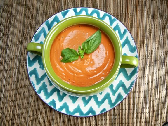 Clean Eating Recipe - Roasted Tomato and Eggplant Soup. Quick & Easy ...