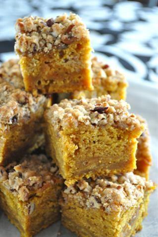 Pumpkin Blondies | Recipes- Desserts and Sweets | Pinterest