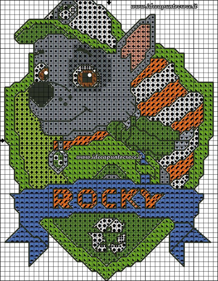 Схемы вышивки крестом щенячий патруль 72