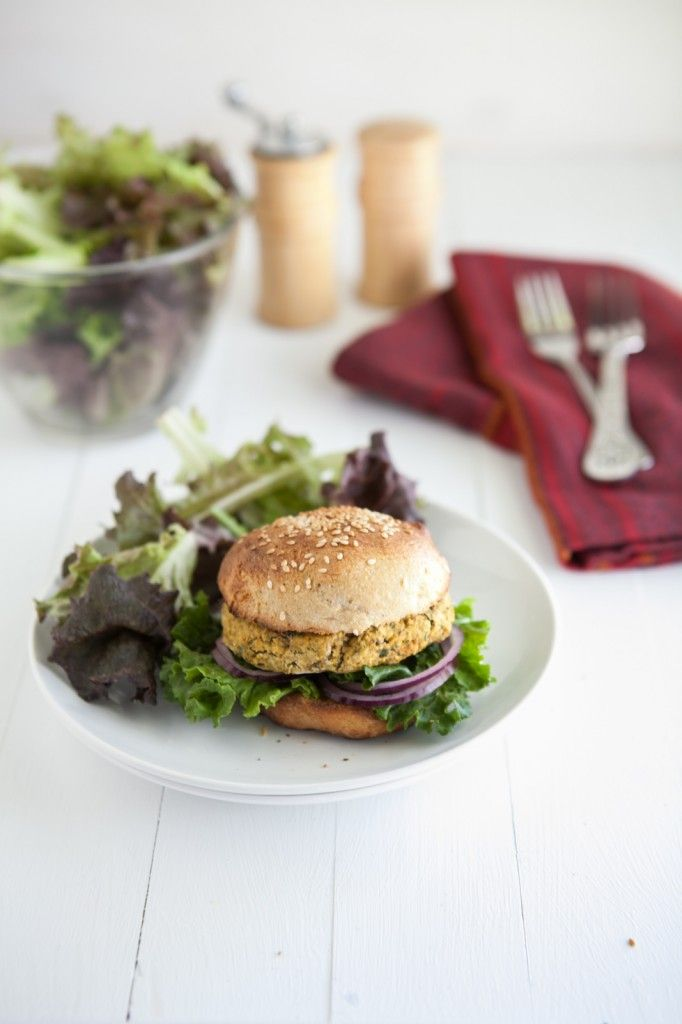 Chickpea And Spinach Burgers Recipe — Dishmaps