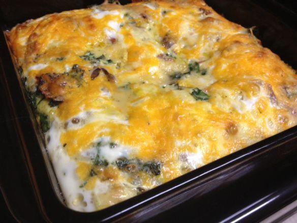 kale egg casserole finished | Favorite Recipes | Pinterest