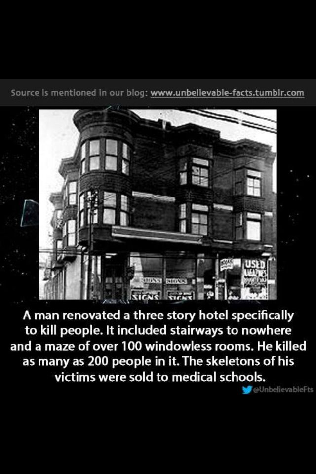 H H Holmes Castle Layout H H  Holmes castle hotel