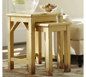 Nesting Side Tables Pottery Barn The Quaint Cottage: DIY Simple End Table for Small Spaces