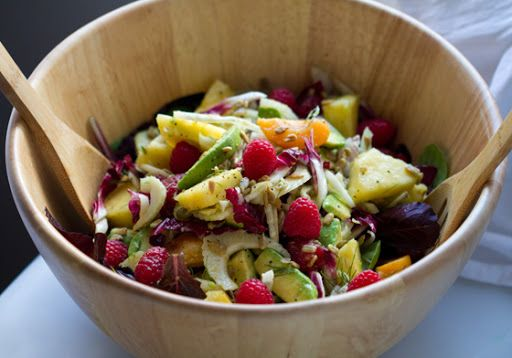 Summer salad with citrus dressing | Ella Bean | Pinterest