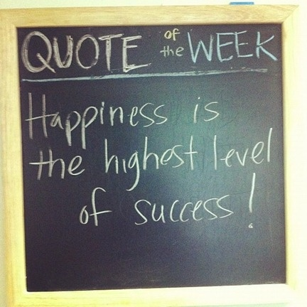 Happiness is the highest level of success! #quotes
