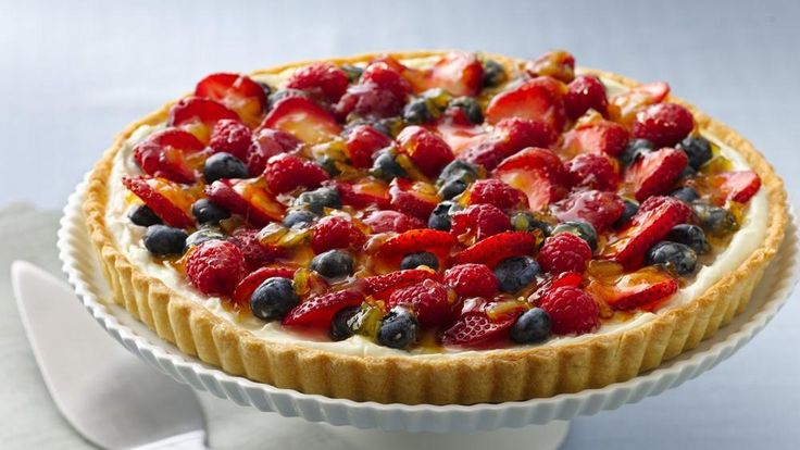 ... to serve with the summer berries topping this creamy filled tart