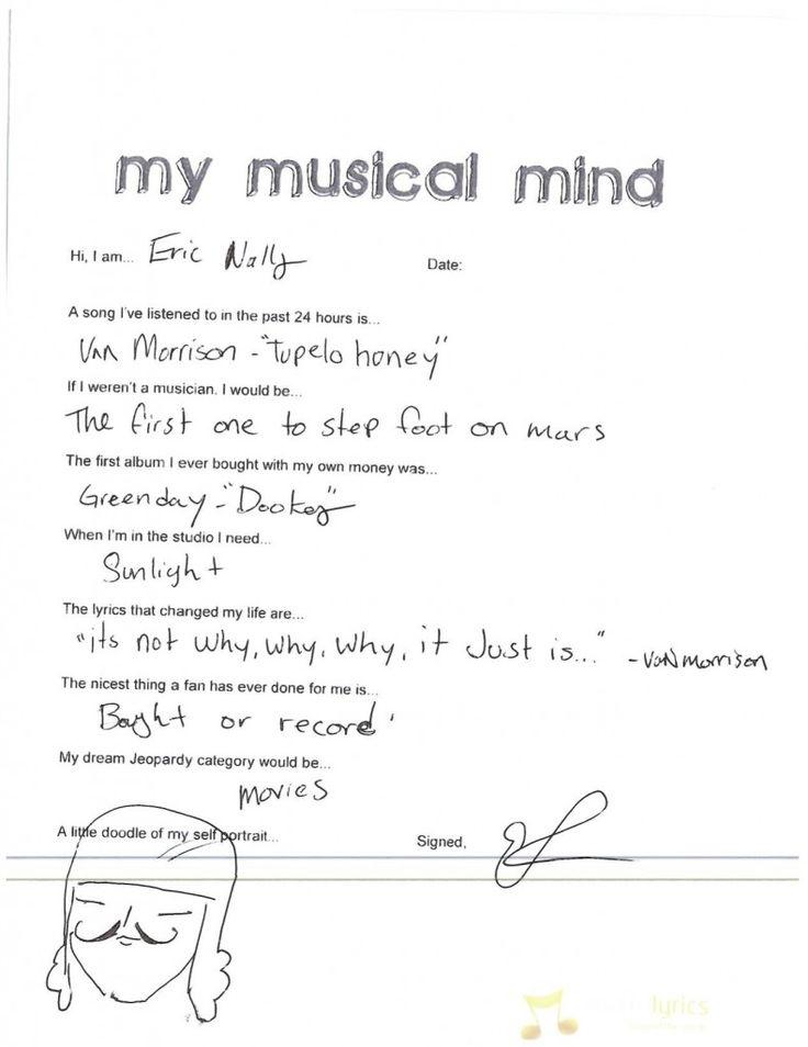 My Musical Mind: Foxy Shazam - Eric Nally