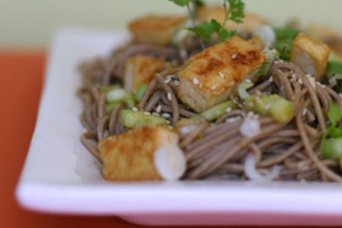 Tofu And Soba Noodles With Lemon Ginger Dressing Recipes — Dishmaps