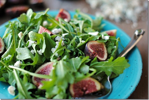 Arugula, Fig & Blue Cheese Salad | in the kitchen | Pinterest