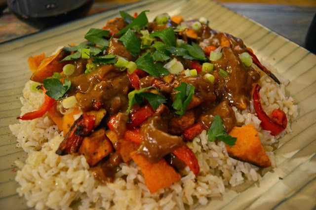 city girl | country roots: Thai Sauce Over Brown Rice, Roasted Sweet ...