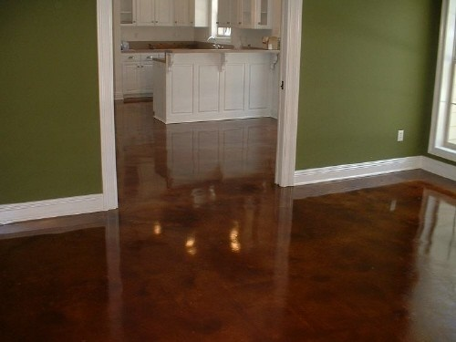 stained concrete floors basement for the home pinterest