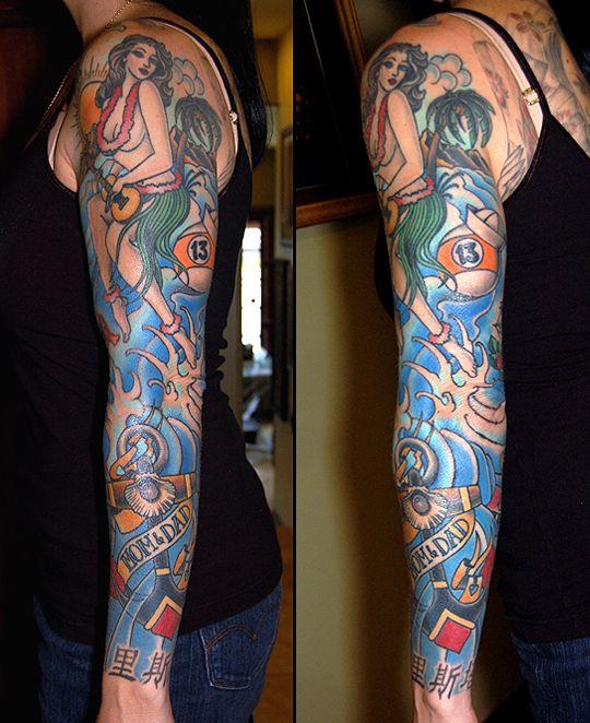 traditional sleeve tattoo tatoo old school pinterest. Black Bedroom Furniture Sets. Home Design Ideas