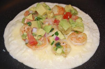 Dinner with The Donnells: Shrimp Quesadillas with Tomato Avocado Salsa