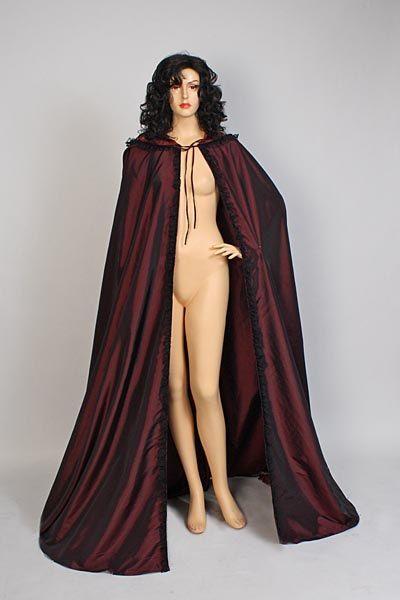 Medieval renaissance cape cloak handmade taffeta by yourdressmaker