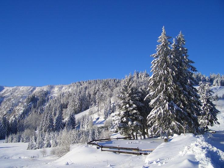 La Station du Lac Blanc et son manteau de neige - Alsace