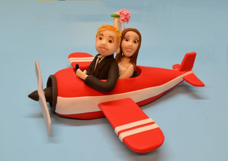 Wedding Cake Topper Airplane