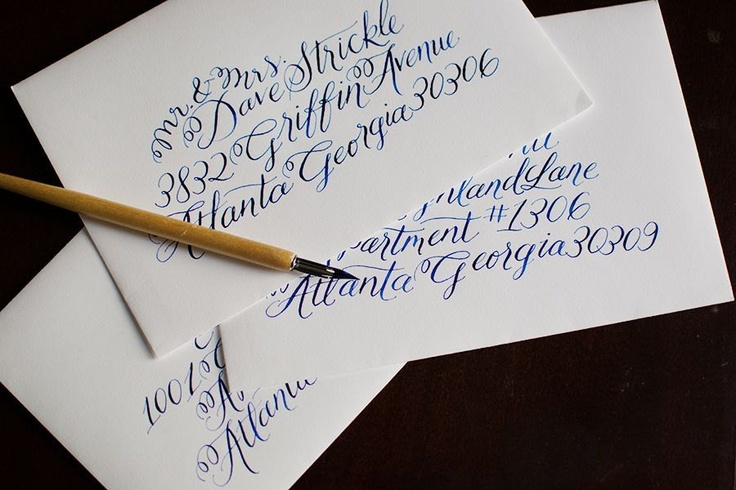 Wedding Envelope Invitation Calligraphy Font Griffin
