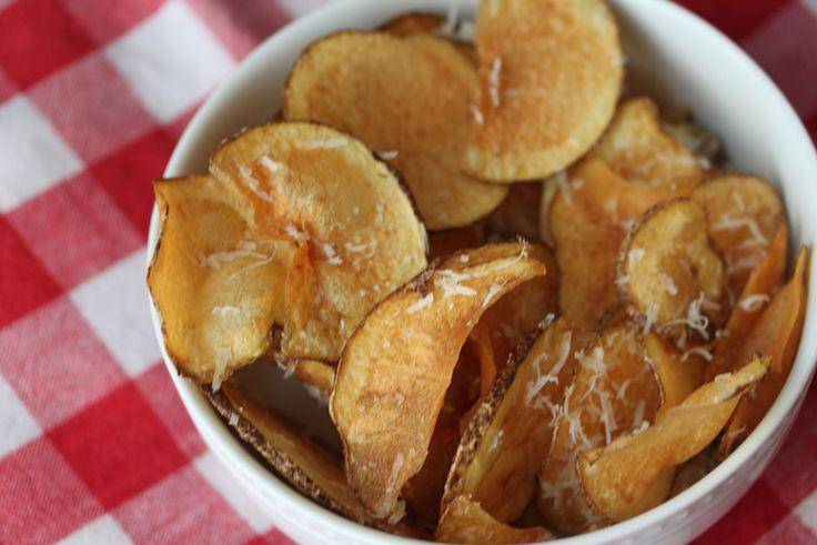 Homemade Parmesan Potato Chips   Veggie Tales   Pinterest