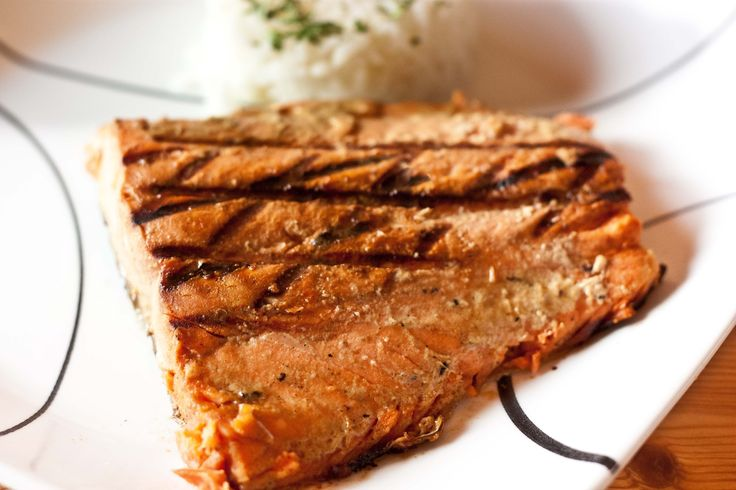 Salmon with Brown Sugar and Mustard Glaze | Recipe
