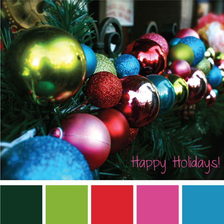 Colorful Christmas Colors D Tabelas Para Decorar Casa
