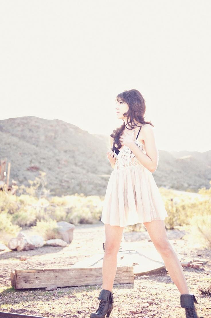 #girl #vintage #dress #boots #lighting