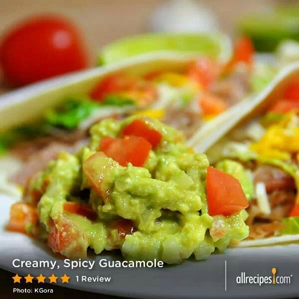 Creamy Spicy Guacamole Dip | Let's try it | Pinterest