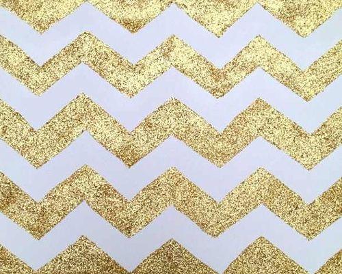 chevron glitter gold pinterest
