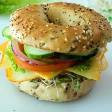 Veggie and Cheese Bagel Sandwich | What's Cookin', Good Lookin? | Pin...