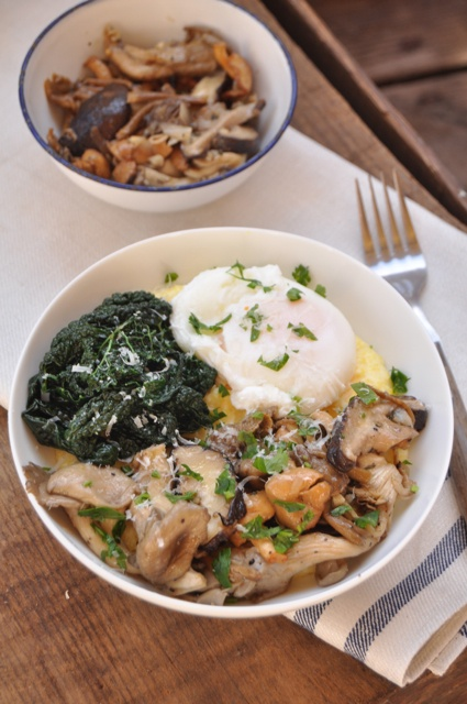 roasted wild mushrooms with polenta | What's for dinner? | Pinterest