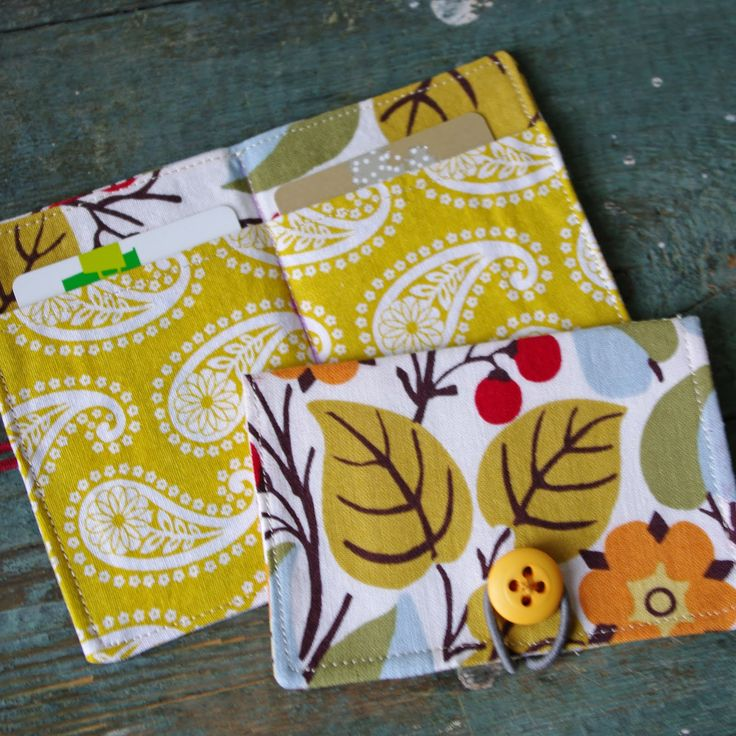 My So Called Green Life...: How to Sew a Credit Card Wallet, Business, or Gift Card holder
