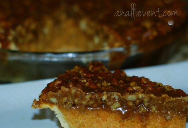 Sweet Potato Pie with Pecan Topping #dessert #pie #holiday #recipe # ...