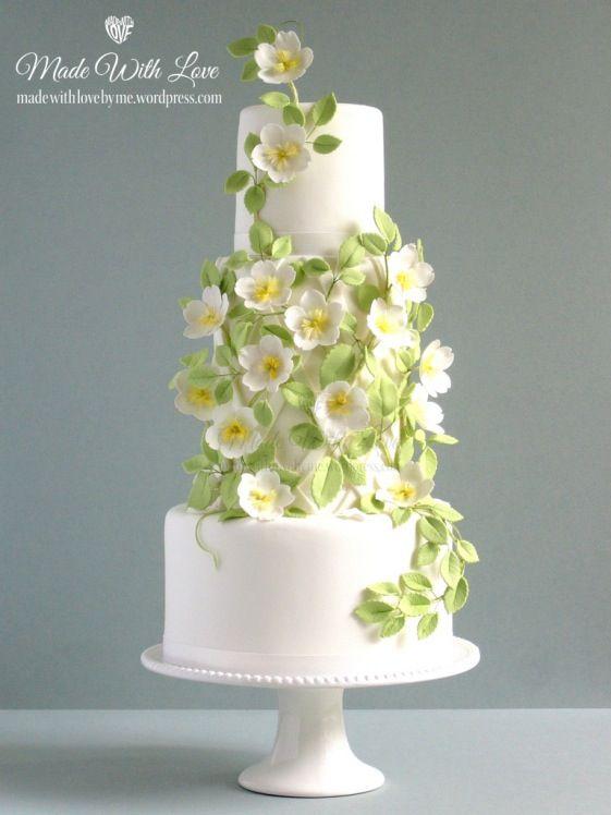 Spray Of Flowers Wedding Cake Wedding Cakes Pinterest