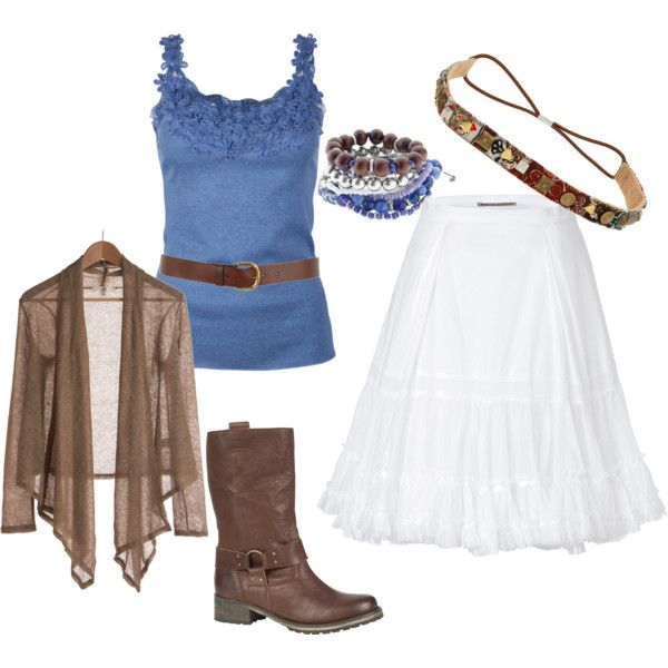 summer outfit.. but with cowboy boots.   Just my style ...