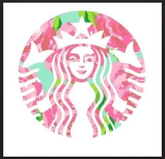 Lilly Pulitzer Starbucks Logo Lilly