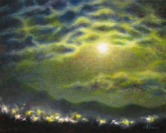 original landscape moon night - photo #7