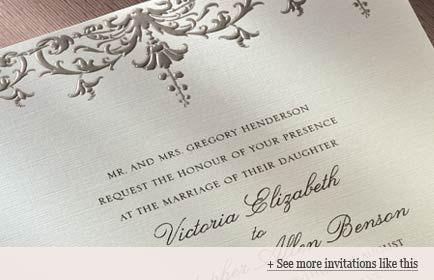 Military Weddings: Invitation wording examples.