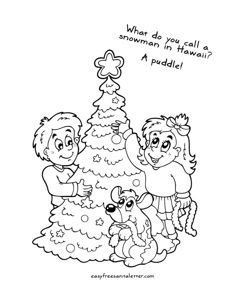 Pin by letters from santa on christmas coloring pages for Joke letter templates