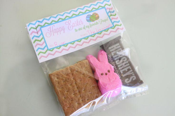 Easter Peeps S'mores {Free Printable} | Easter/ Spring | Pinterest