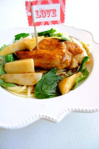 Chicken in pear sauce. Basic idea looks tasty, but I seriously dislike ...