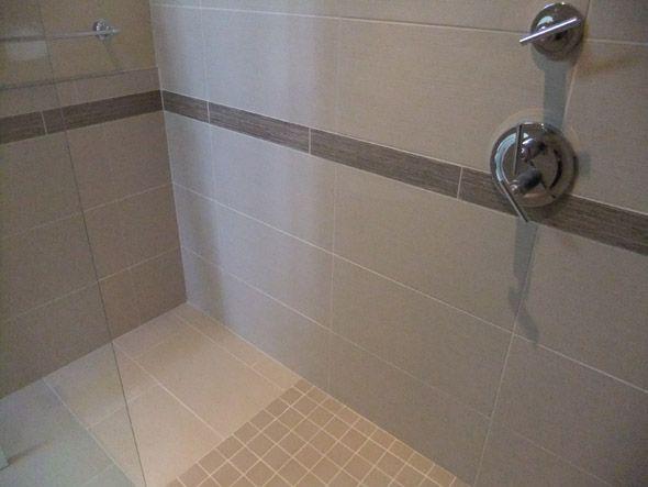 Gray 12 X 24 Tiles In A Shower Bathroom Upgrade Pinterest