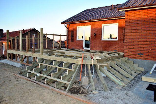 Altan trappa bygge  Altanen / Veranda / Uteplats / Patio  Pinterest