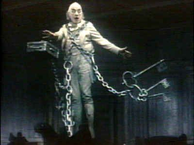 "Sir Alec Guinness as Jacob Marley in the musical ""Scrooge"". One of the best Marleys ever."