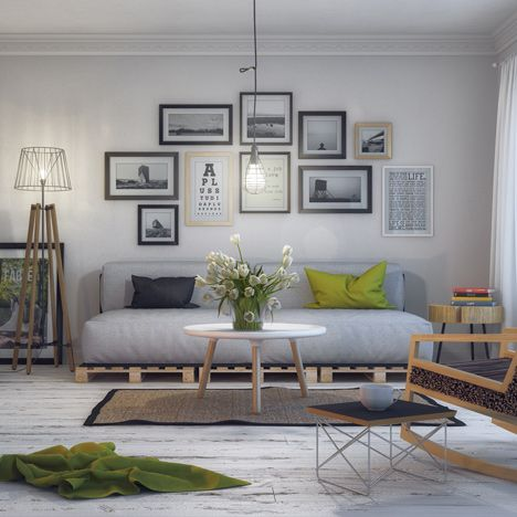 colour theme is gorg. Archictect/artist, Milan Stevanovic's realistic rendering of an imaginary Scandinavian interior