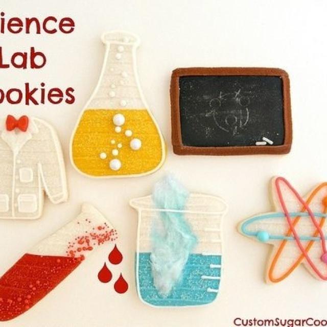 Geekery-- Lab cookies.