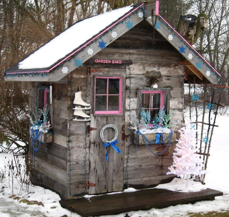 My garden shed in january in michigan gardening pinterest - Garden sheds michigan ...