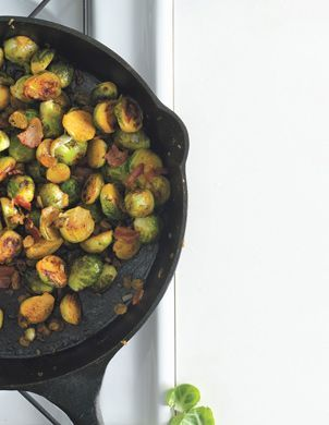 Brussels Sprouts with Bacon and Raisins. | Health improving food | Pi ...