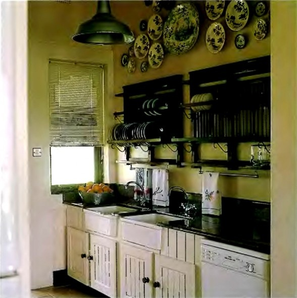 colonial style kitchen for the home