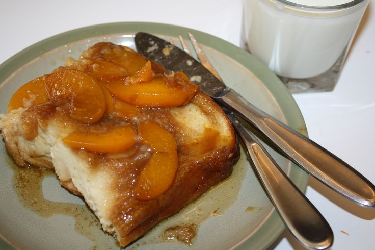 Baked peach french toast | Recipes | Pinterest
