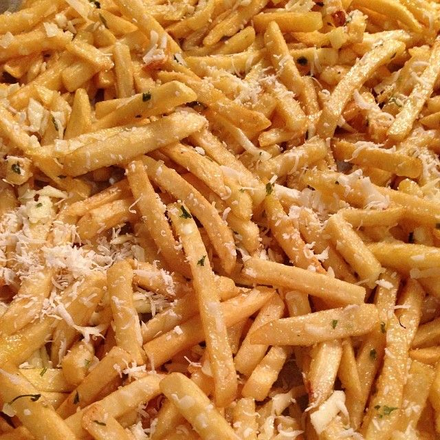 Cheesy Garlic-Parmesan Fries Recipe | Sides | Pinterest